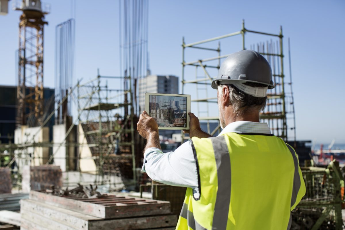 construction manager conducting an osha safety inspection for employer per employers rights