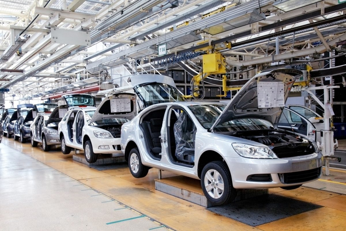 An ISO 9001 certified automotive assembly line