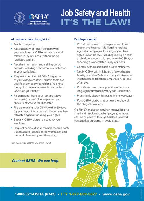 OSHA's mandatory jobsite safety poster