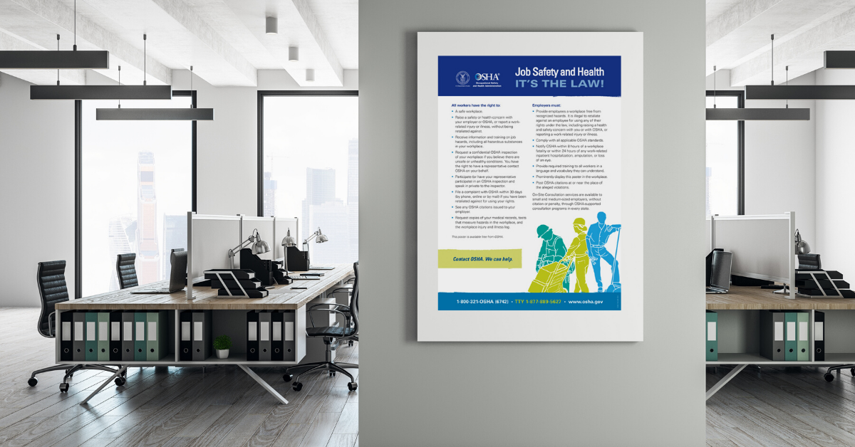 Osha Its The Law Poster