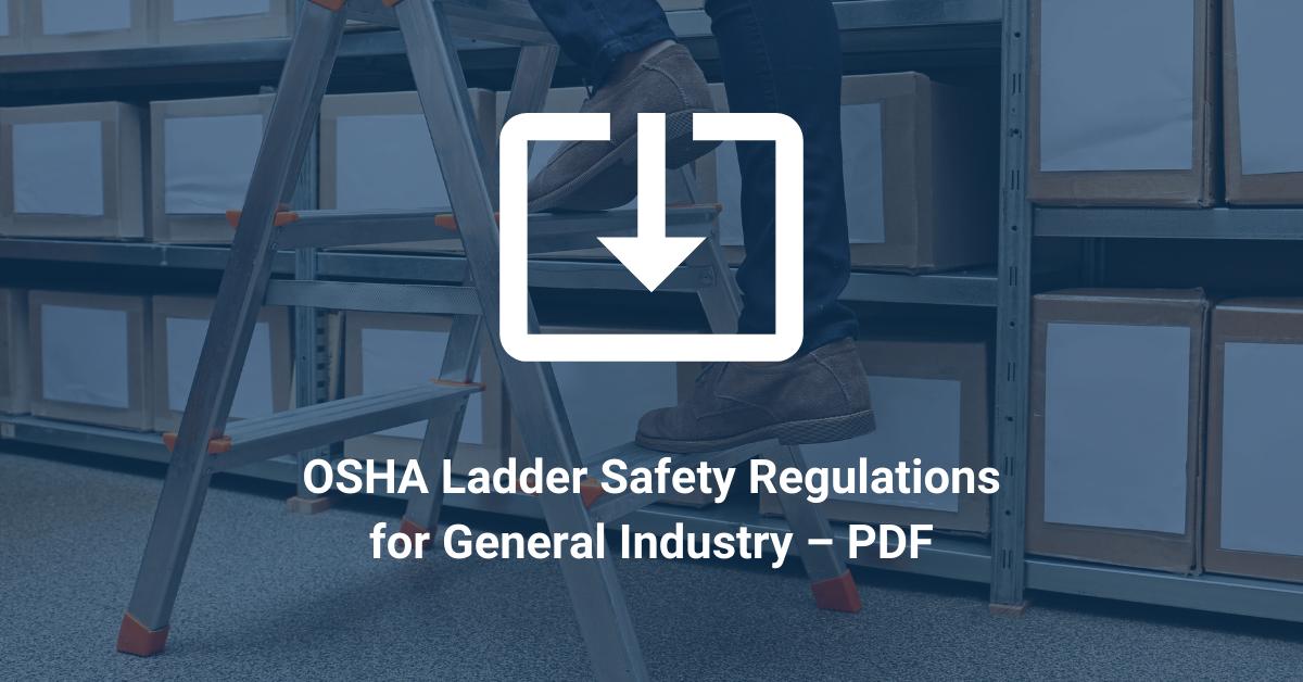 Osha Ladder Standards Pdf