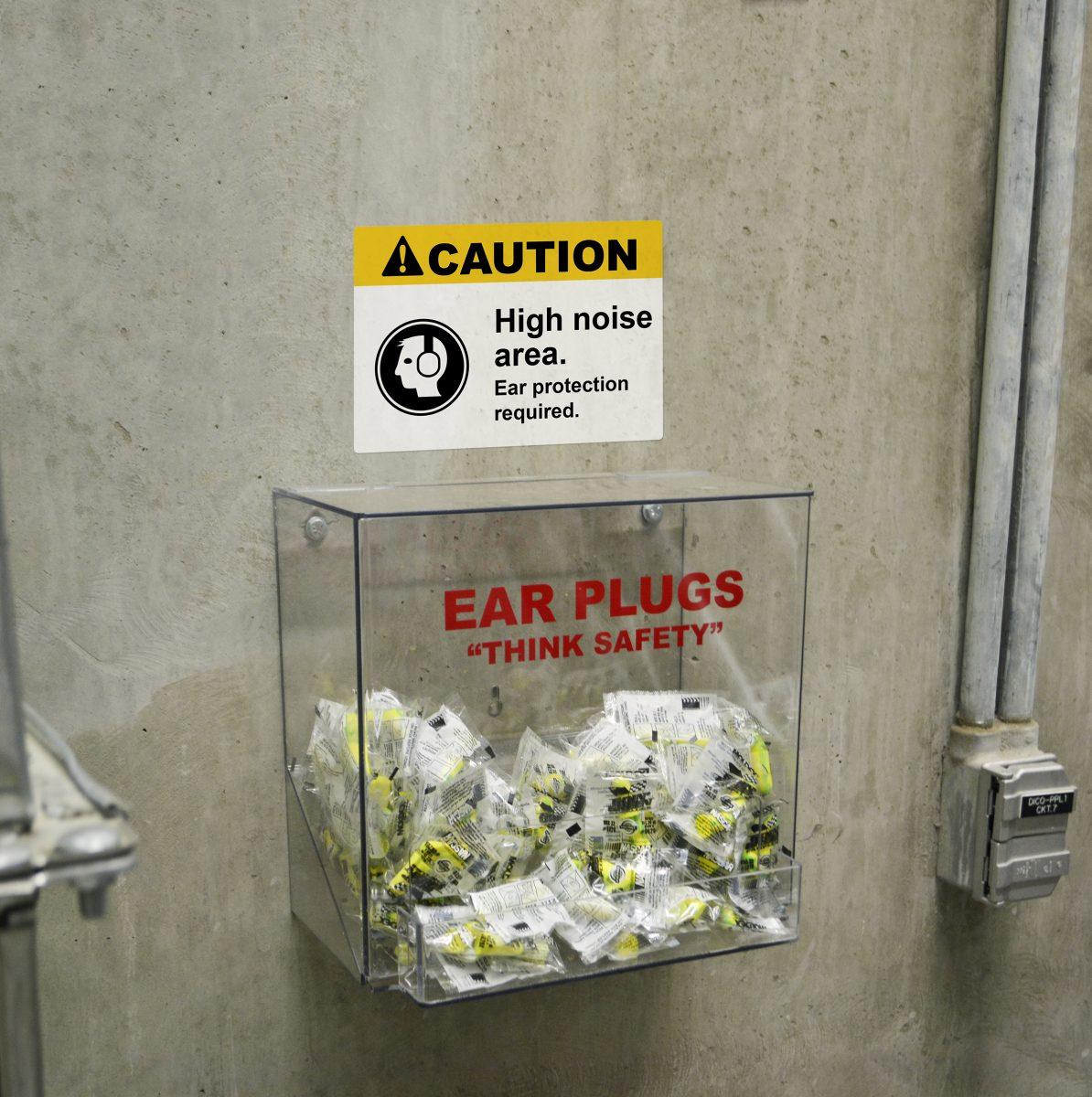 Caution High Noise Area Sign