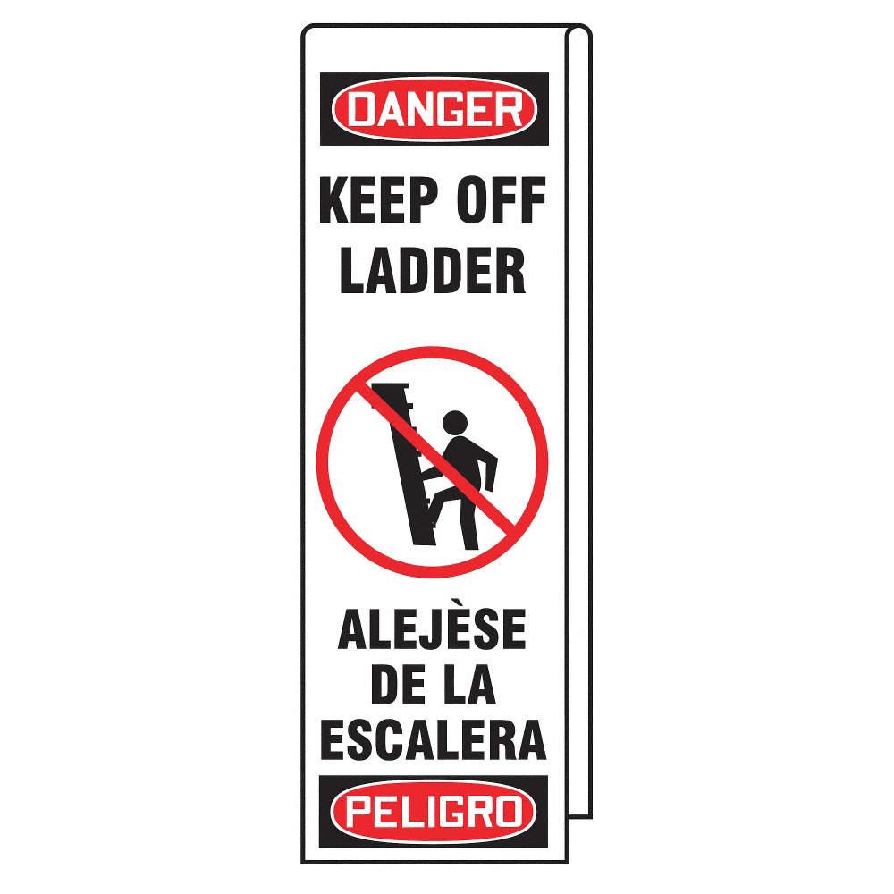 danger label for ladder from grainger