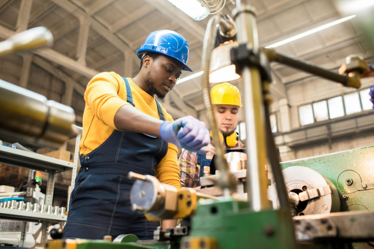 training factory workers in lockout tagout procedures