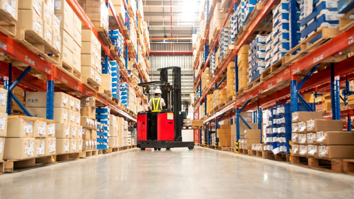 Warehouse Forklift Aisle