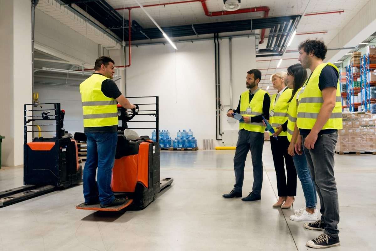 safety training in a warehouse