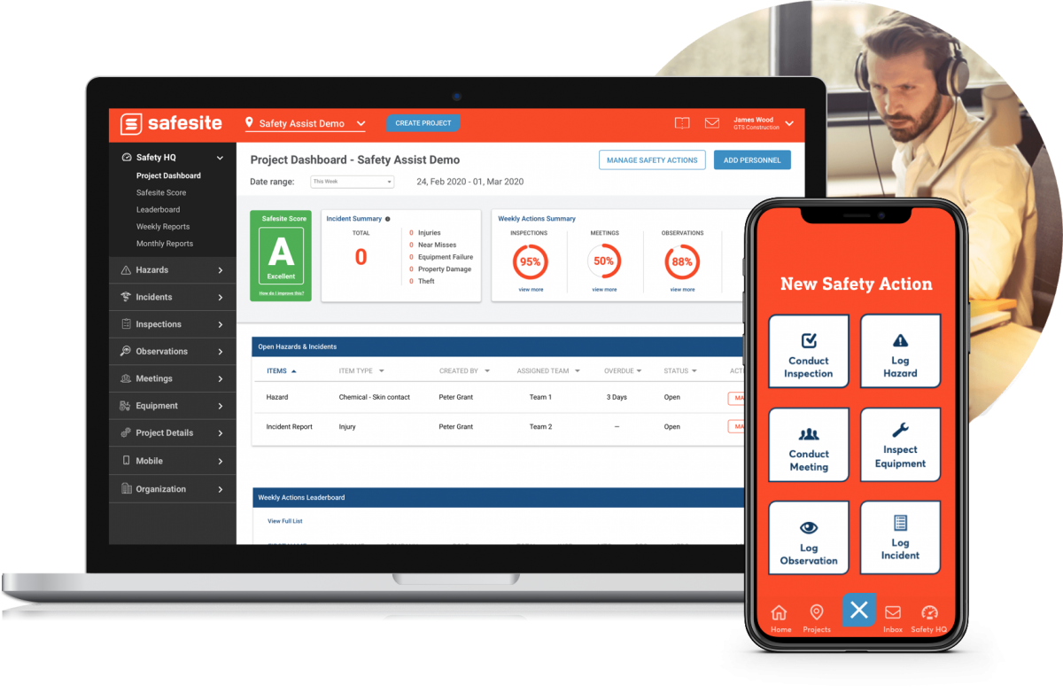 an example safety management software for coordinators and technicians