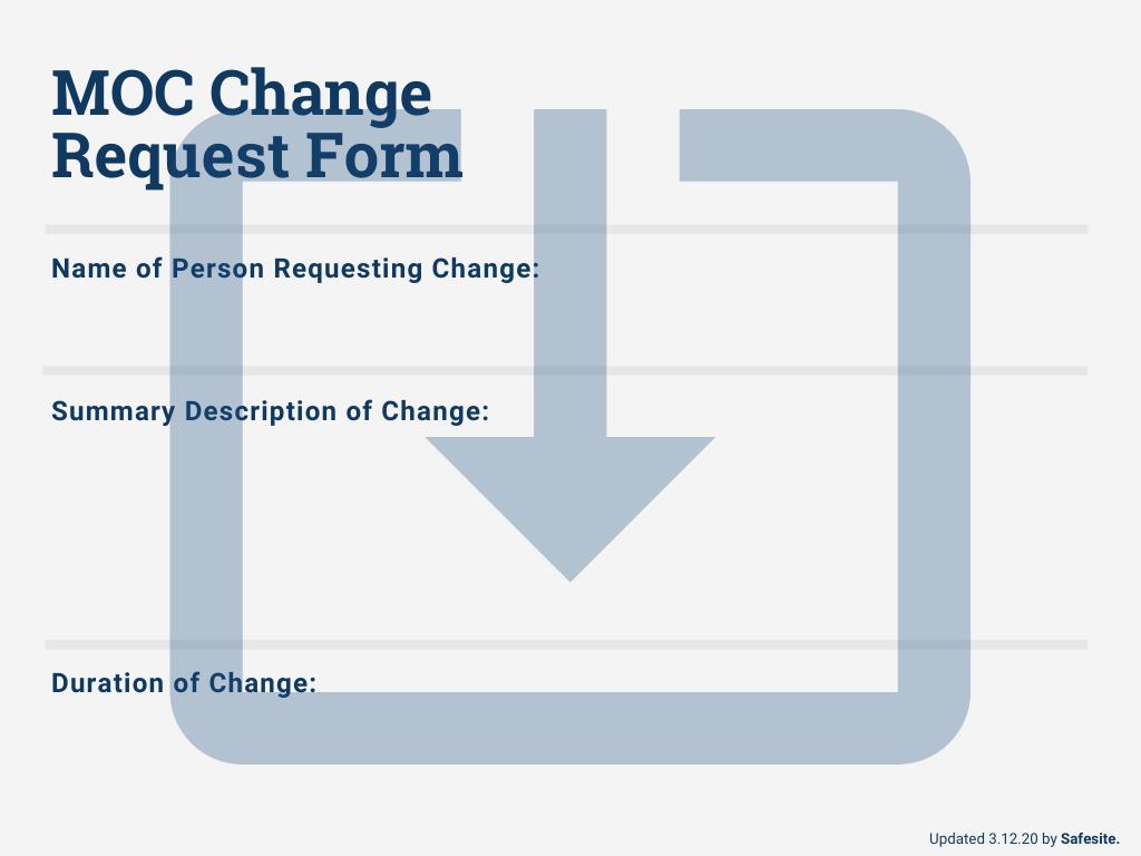 MOC Change Form Template