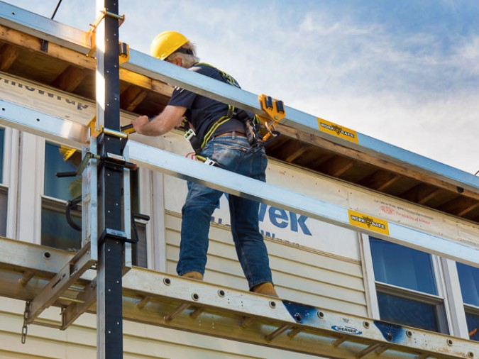 fall protection system for residential contractors