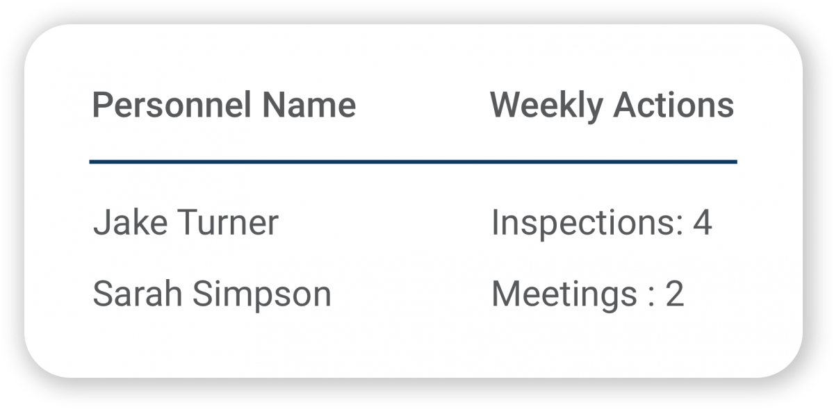 Weekly Actions Assignments