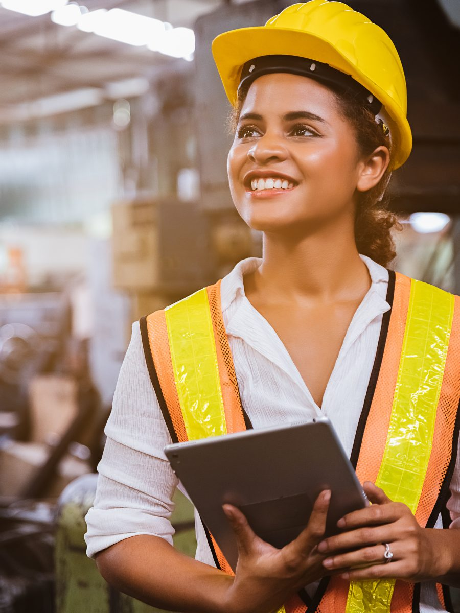 Safety professional using safety software