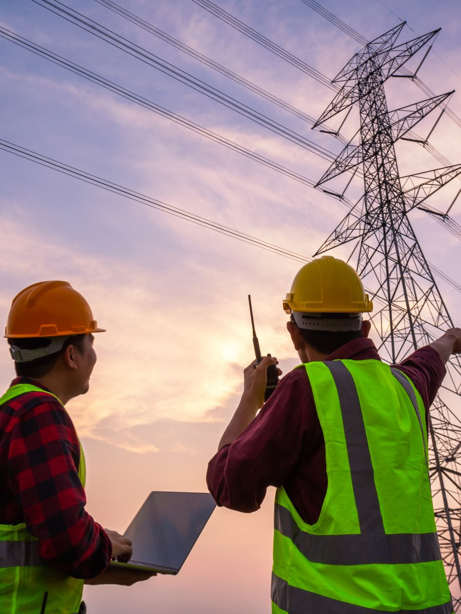 Two workers using electrical safety inspections