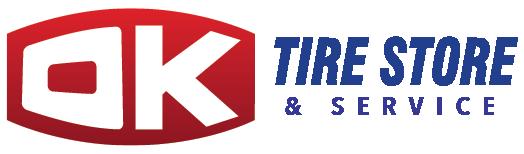 Ok Tire Service Logo White Outline
