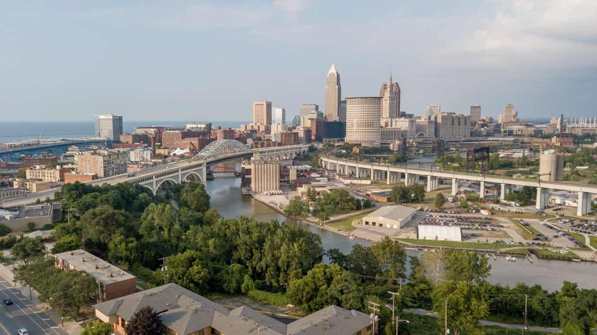 Cleveland From Ohio City Aerial